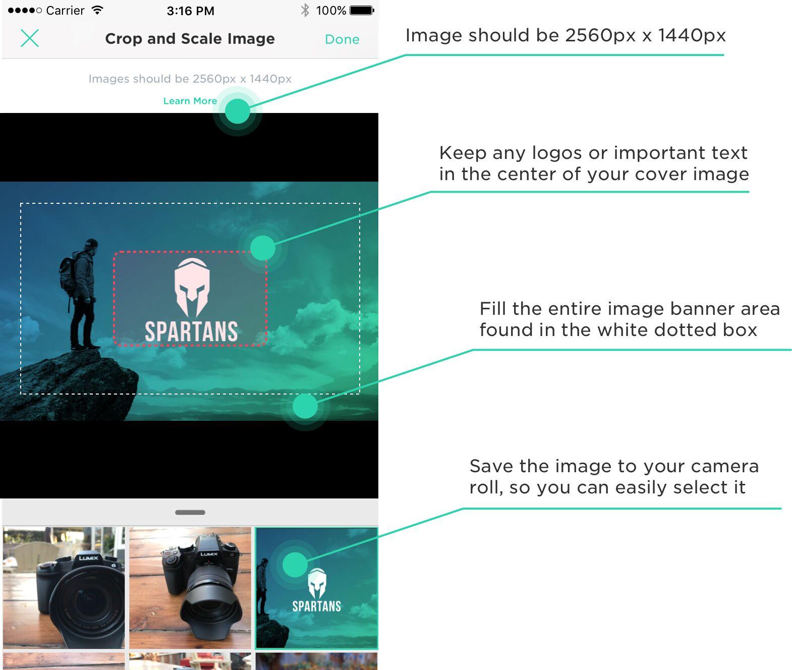 Communities custom cover image instructions