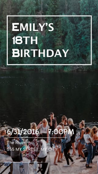 Text Message Invite Designs for Outdoor 18th Birthday Party