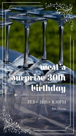 Text Message Invite Designs for Surprise 30th Party
