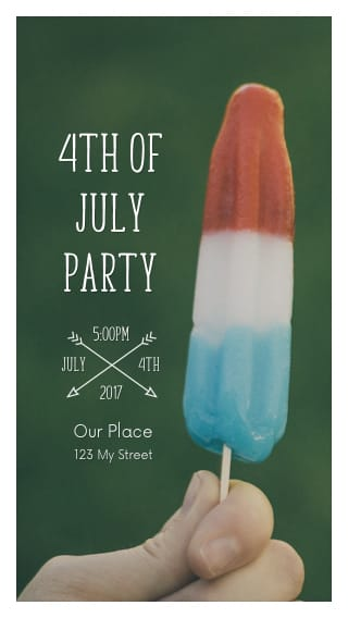 Text Message Invite Designs for 4th of July Party Popsicle