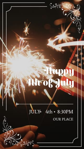 Text Message Invite Designs for Happy 4th of July