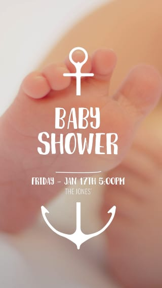 Text Message Invite Designs for Baby Feet Baby Shower