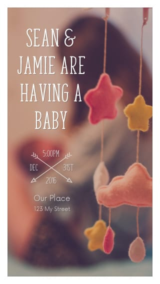 Text Message Invite Designs for Baby Mobile Baby Shower