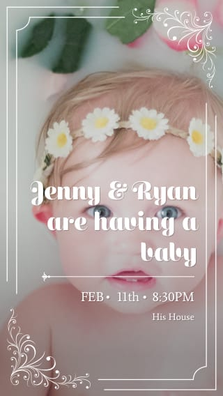 Text Message Invite Designs for Having a Baby