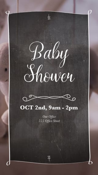 Text Message Invite Designs for Stuffed Animal Baby Shower