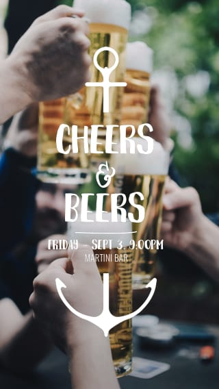 Text Message Invite Designs for Cheers Beers Bachelor Party