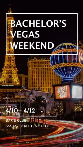 Text Message Invite Designs for Las Vegas Bachelor Party