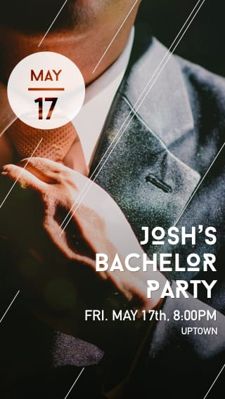 Text Message Invite Designs for Suit Up Bachelor Party