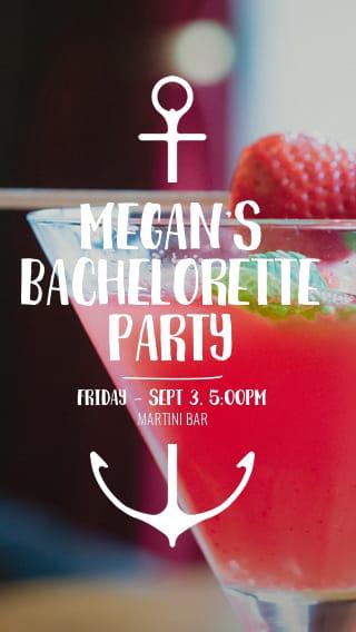 Text Message Invite Designs for Cocktail Bachelorette Party