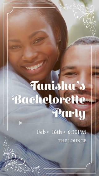 Text Message Invite Designs for Engagement Photo Bacelorette Party