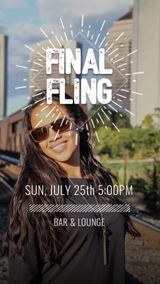 Text Message Invite Designs for Final Fling Bachelorette Party