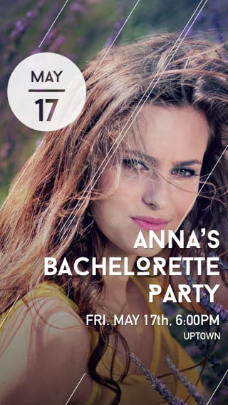 Text Message Invite Designs for Glamour Shot Bachelorette Party