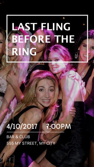 Text Message Invite Designs for Last Fling Before the Ring Bachelorette Party