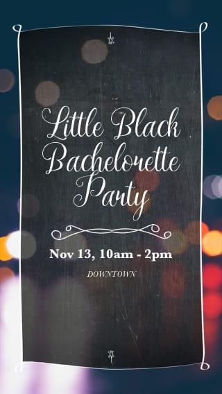 Text Message Invite Designs for Little Black Dress Bachelorette Party
