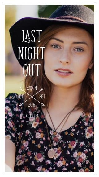 Text Message Invite Designs for Selfie Bachelorette Party