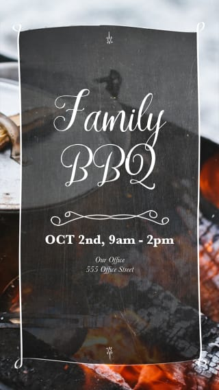 Text Message Invite Designs for Charcoal Barbecue