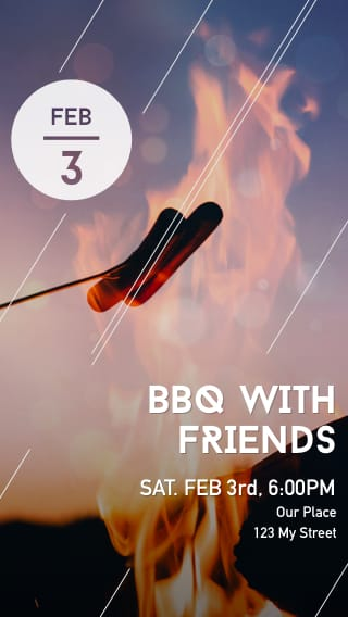 Text Message Invite Designs for Friendship Hot Dog Barbecue