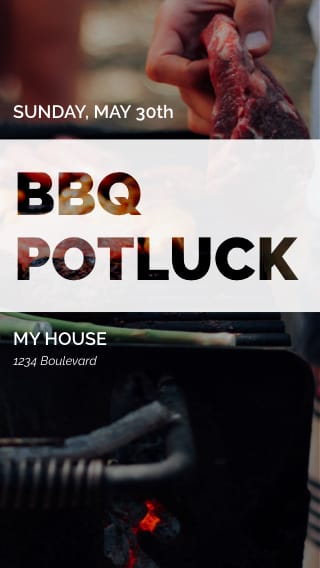 Text Message Invite Designs for Potluck Barbeque