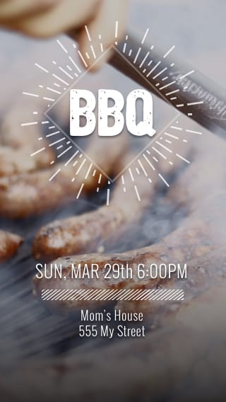 Text Message Invite Designs for Sausage Barbecue