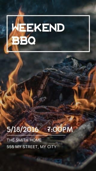 Text Message Invite Designs for Weekend Barbecue