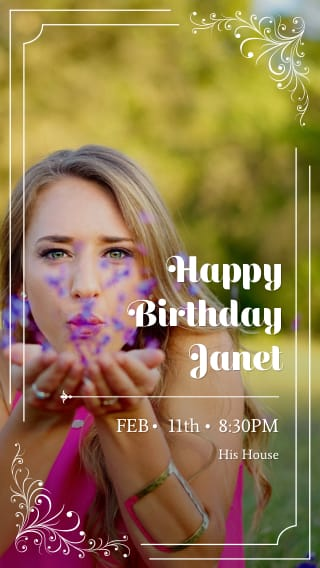 Text Message Invite Designs For 30s Woman Birthday Party