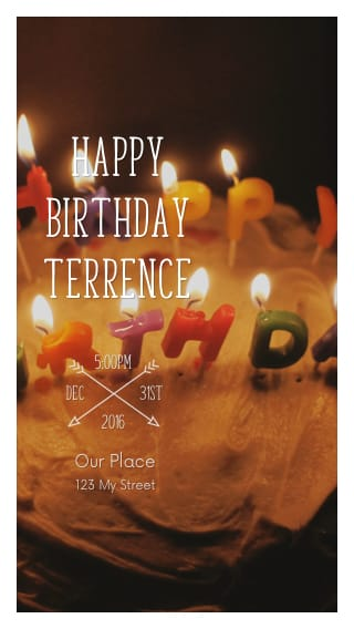 Text Message Invite Designs for Birthday Cake Male Birthday Party