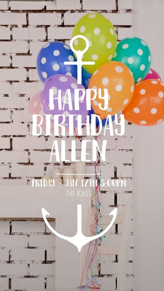 Text Message Invite Designs For Hipster Balloons Birthday Party