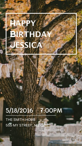 Text Message Invite Designs for Outdoor Park Birthday Party