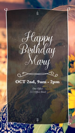 Text Message Invite Designs for Woman Flowers Birthday Party