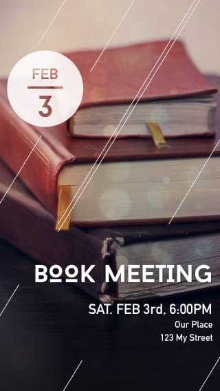 Text Message Invite Designs for Coffee Shop Book Club Meeting