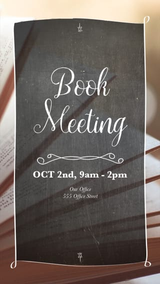 Text Message Invite Designs for Weekly Book Club