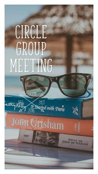 Text Message Invite Designs for Book Club Circle