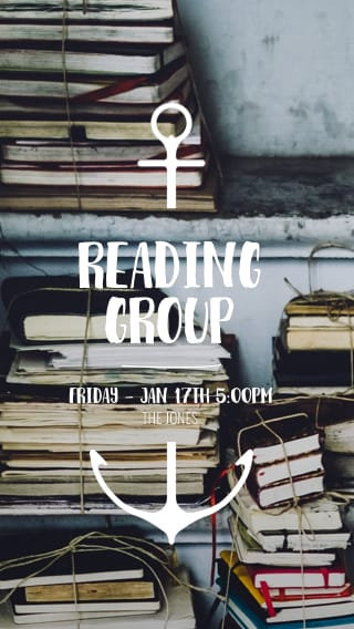 Text Message Invite Designs for Reading Group Monthly Meeting