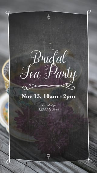 Text Message Invite Designs for Bridal Tea Party