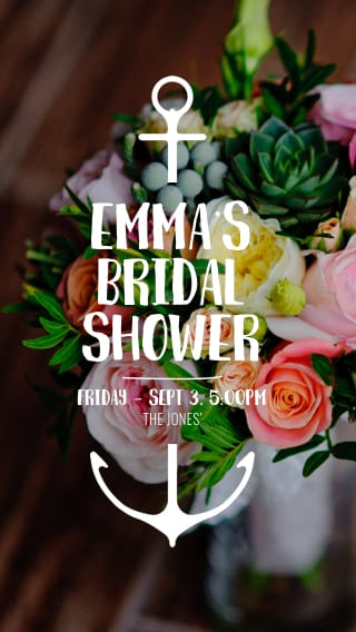 Text Message Invite Designs for Bridal Shower Invitation