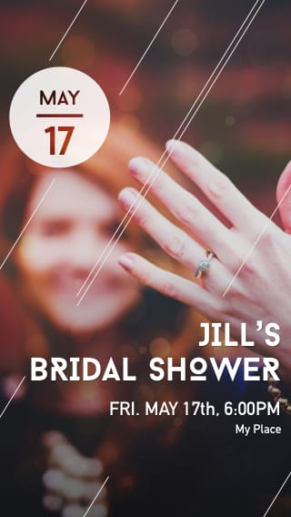 Text Message Invite Designs for Bridal Shower Dinner