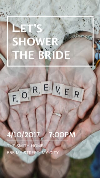 Text Message Invite Designs for Let's Shower The Bride