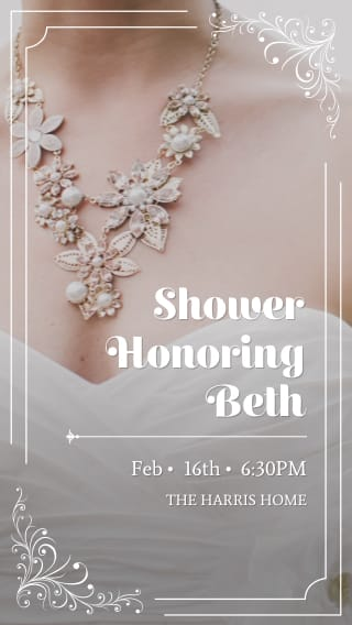 text message invite designs for honor the bride bridal shower