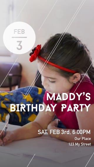Text Message Invite Designs for Coloring Child's Birthday Party