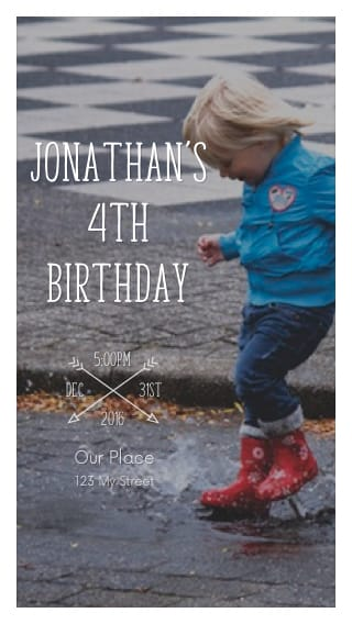 Text Message Invite Designs For Outdoor Childs Birthday Party