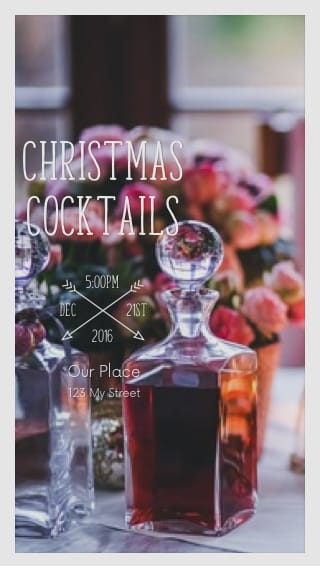 Text Message Invite Designs for Christmas Cocktails