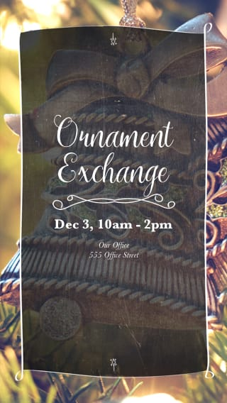 Text Message Invite Designs for Ornament Exchange