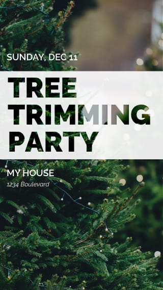 Text Message Invite Designs for Tree Trimming Party