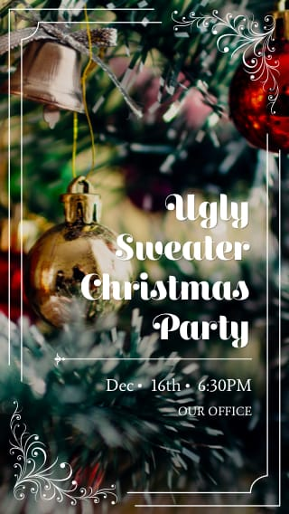 Text Message Invite Designs for Ulgy Sweater Christmas Party