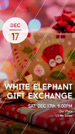 Text Message Invite Designs for White Elephant Gift Exchange