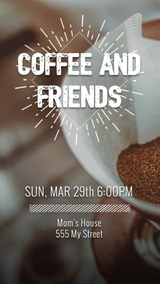 Text Message Invite Designs for Coffee and Friends