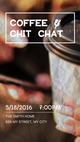 Text Message Invite Designs for Coffee Chit Chat