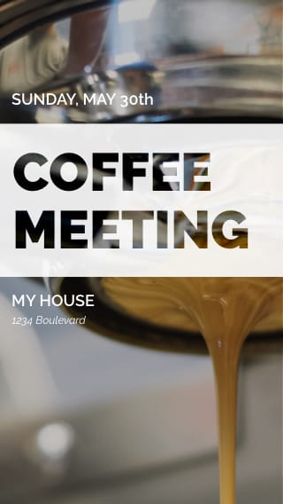 Text Message Invite Designs for Coffee Meeting