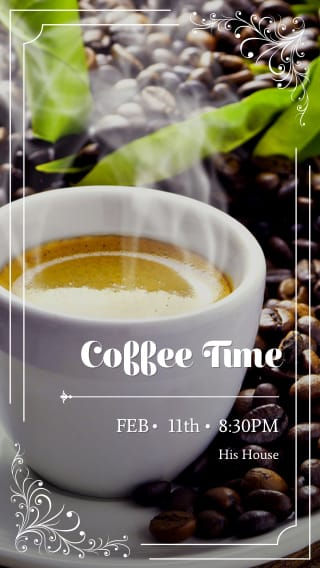 Text Message Invite Designs for Coffee Time