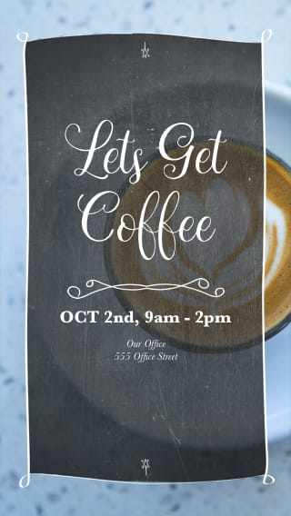 Text Message Invite Designs for Let's Get Coffee